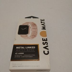 Case Mate Rose Gold Apple Metal Watch Band